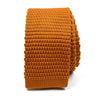 Knitted Burnt Orange Tie