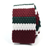 Knitted Maroon Green White Tie