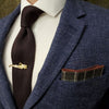 Checkered Brown Pocket Square