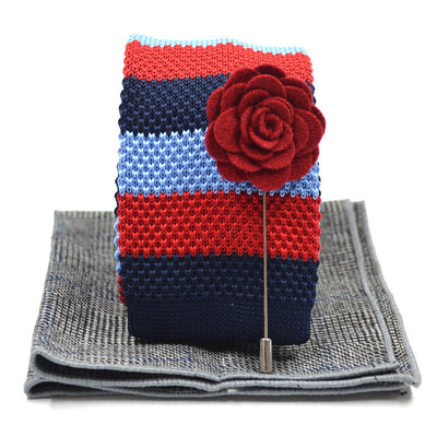 Knitted Nautical Tie Set
