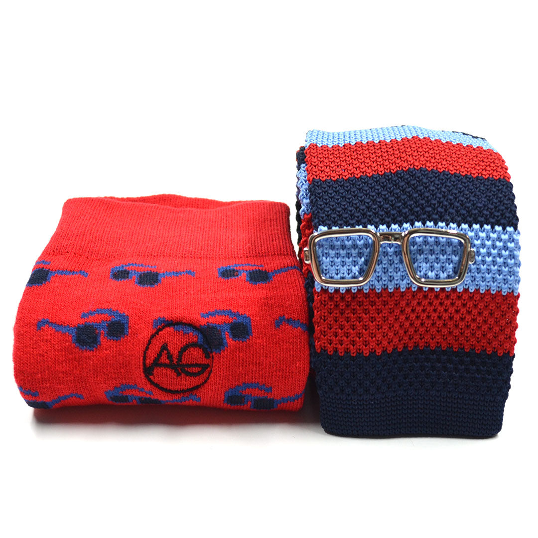 Knitted Nautical Tie and Sock Set