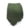 Knitted Point Olive Drab Tie