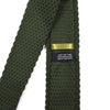 Knitted Point Olive Tie