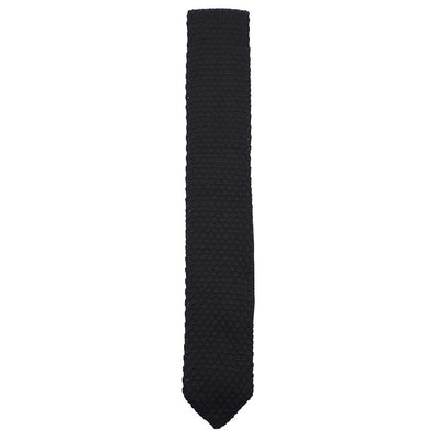 Knitted Point Slate Tie