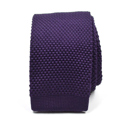 Knitted Purple Tie