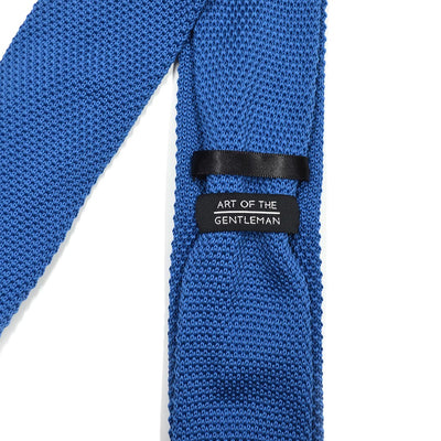 Knitted Sky Blue Tie