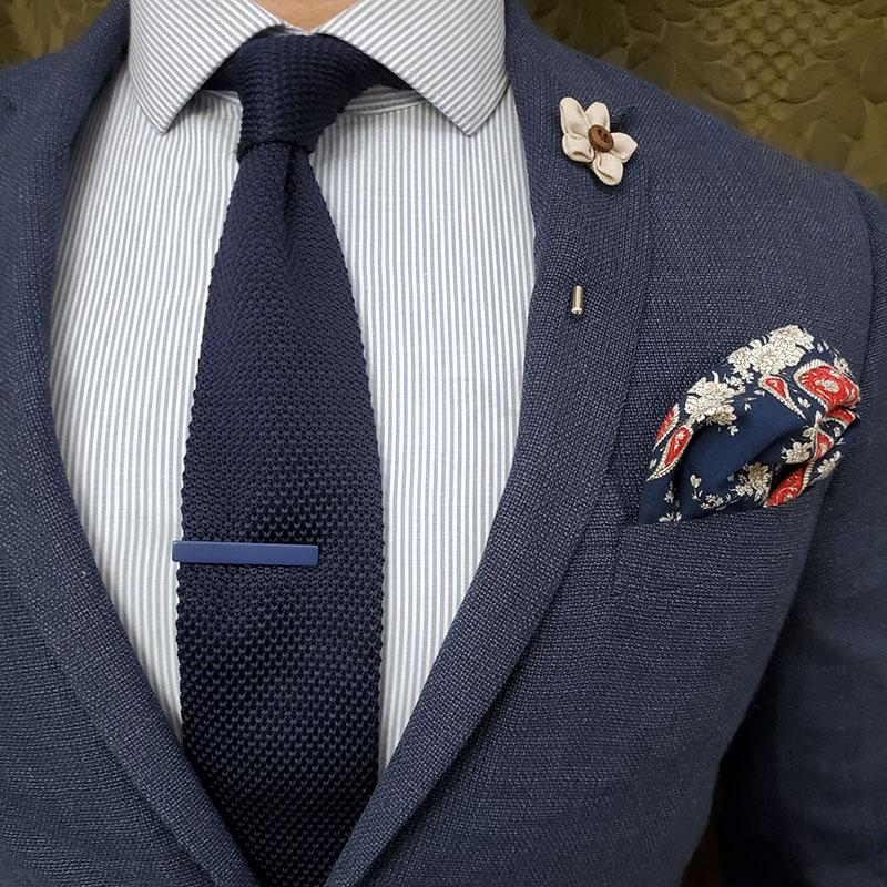 Knitted Navy Tie
