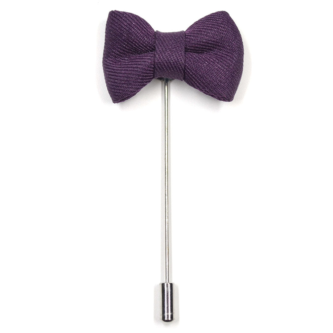 Lapel Pin - Bow Tie Purple
