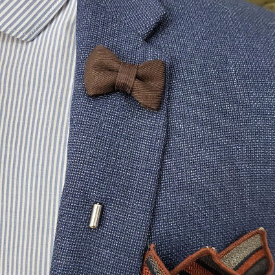 Lapel Pin - Bow Tie Brown