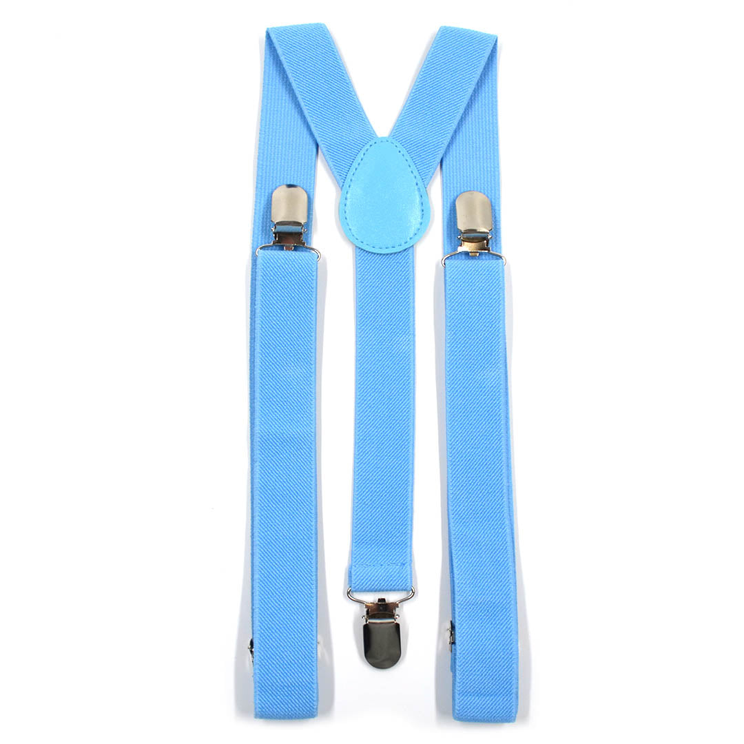 Solid Light Blue Suspenders