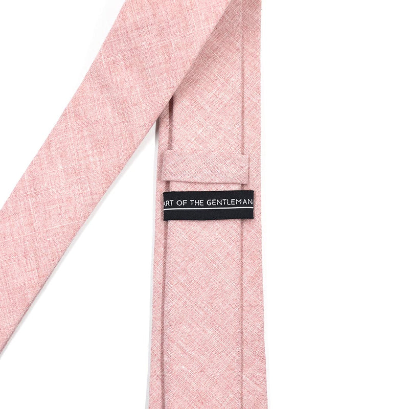 Linen Pink Tie and Sock Set