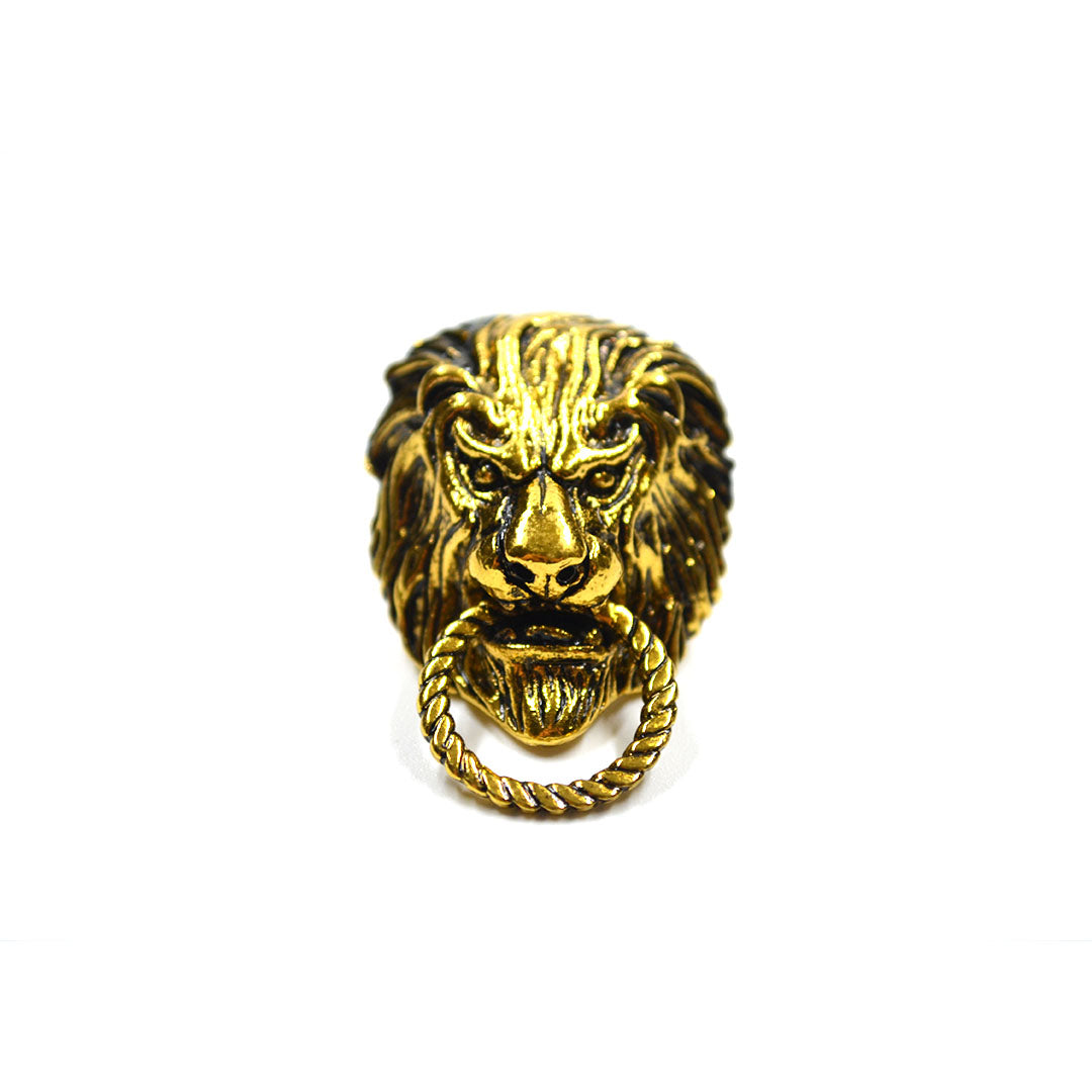 Bronze Lion Lapel Pin