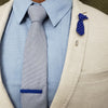 Lapel Pin - Polka Dot Blue Tie