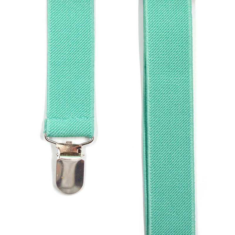 Solid Mint Green Suspenders