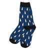 Navy Penguin Men's Socks