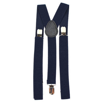 Solid Navy Suspenders