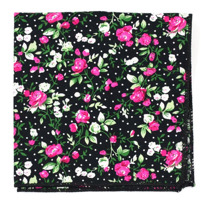 Pocket Square - Black Orchid Pocket Square