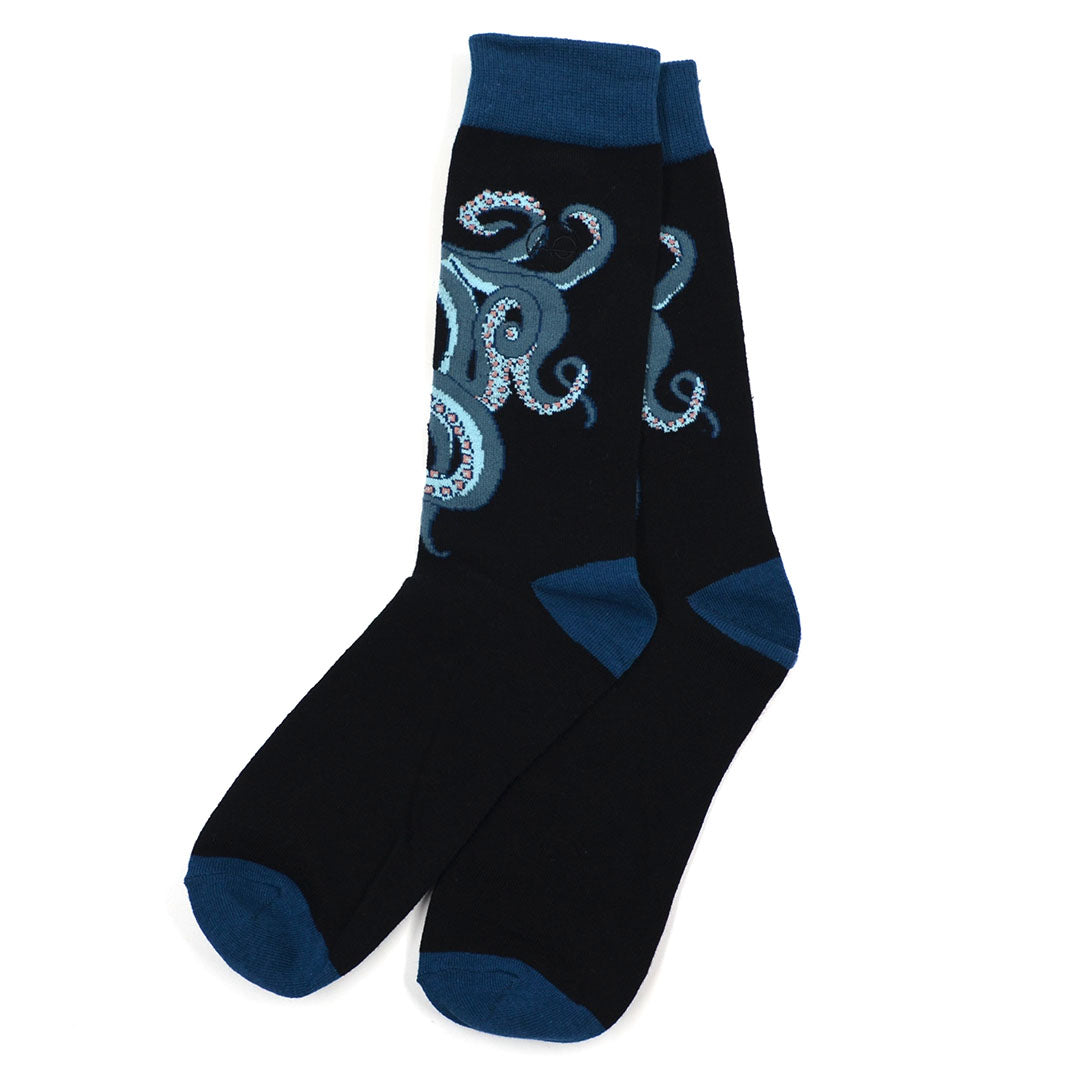 Octopus Black Men's Socks