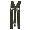 Solid Olive Green Suspenders