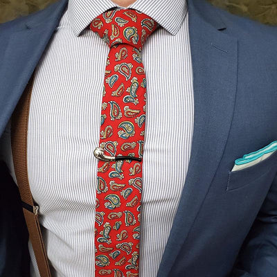 Paisley Bud Red Tie