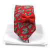 Paisley Bud Red Tie Set