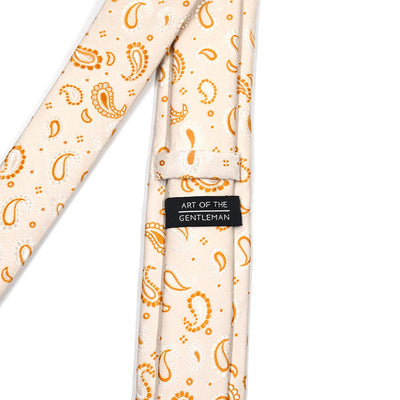 Paisley Crest Pearl Tie