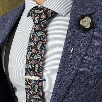 Paisley Medallion Midnight Tie