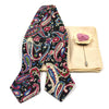 Paisley Navy Strawberry Bow Tie Set