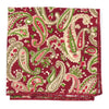 Paisley Scarlet Shamrock Pocket Square