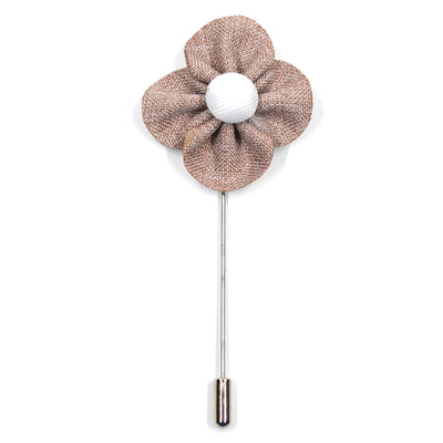 Lapel Pin - Pearl Floral Taupe