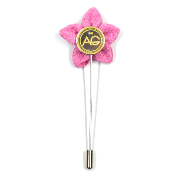 Lapel Pin - Wildflower Flamingo