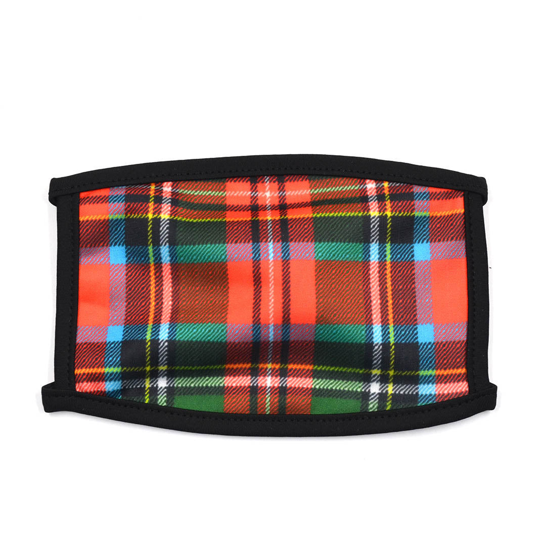Plaid Cherry Red Face Mask