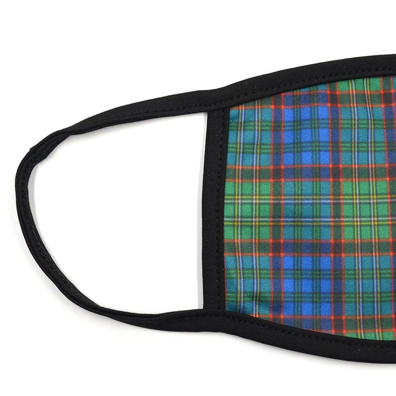Plaid Emerald Navy Face Mask