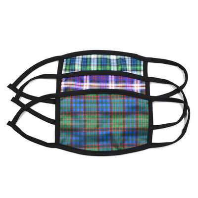 Plaid Navy 3 Pack Face Masks