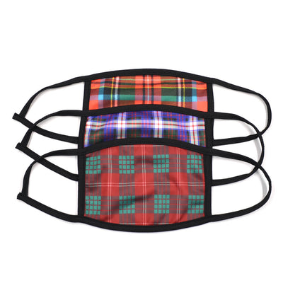 Plaid Red 3 Pack Face Masks