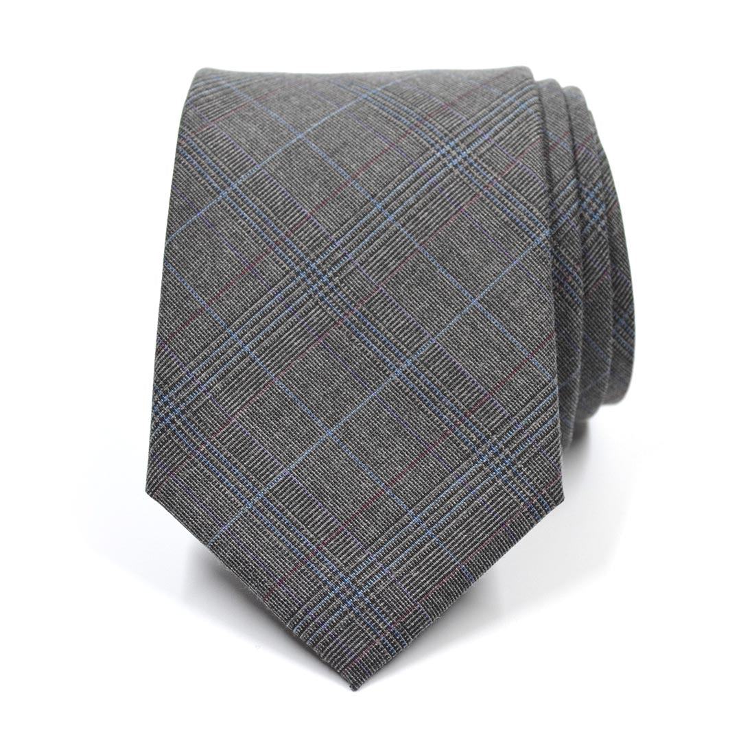 Plaid Sprezzatura Grey Tie