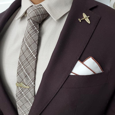 Bronze Wingtips Tie Bar