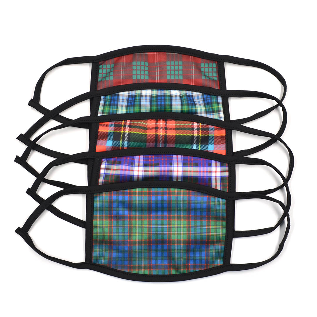 Plaid Variety 5 Pack Face Masks