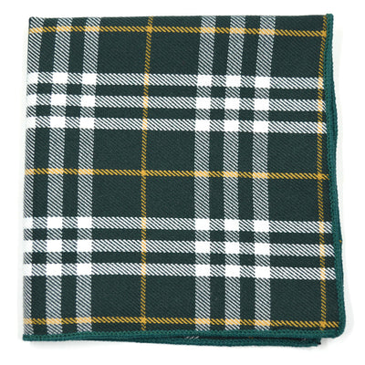 Plaid Green Pocket Square