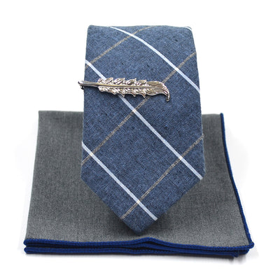Plaid Porpoise Tie Set