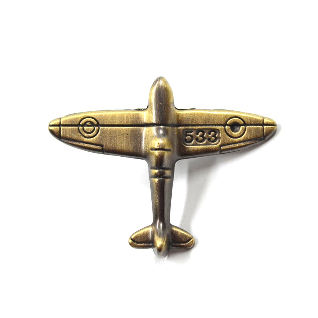 Lapel Pin - Bronze Plane