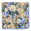 Floral Blue Pocket Square