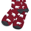 Polar Bear Burgundy Men's Socks