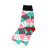 Polka-Stripe Diamond White Socks