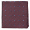 Polka Block Burgundy Pocket Square