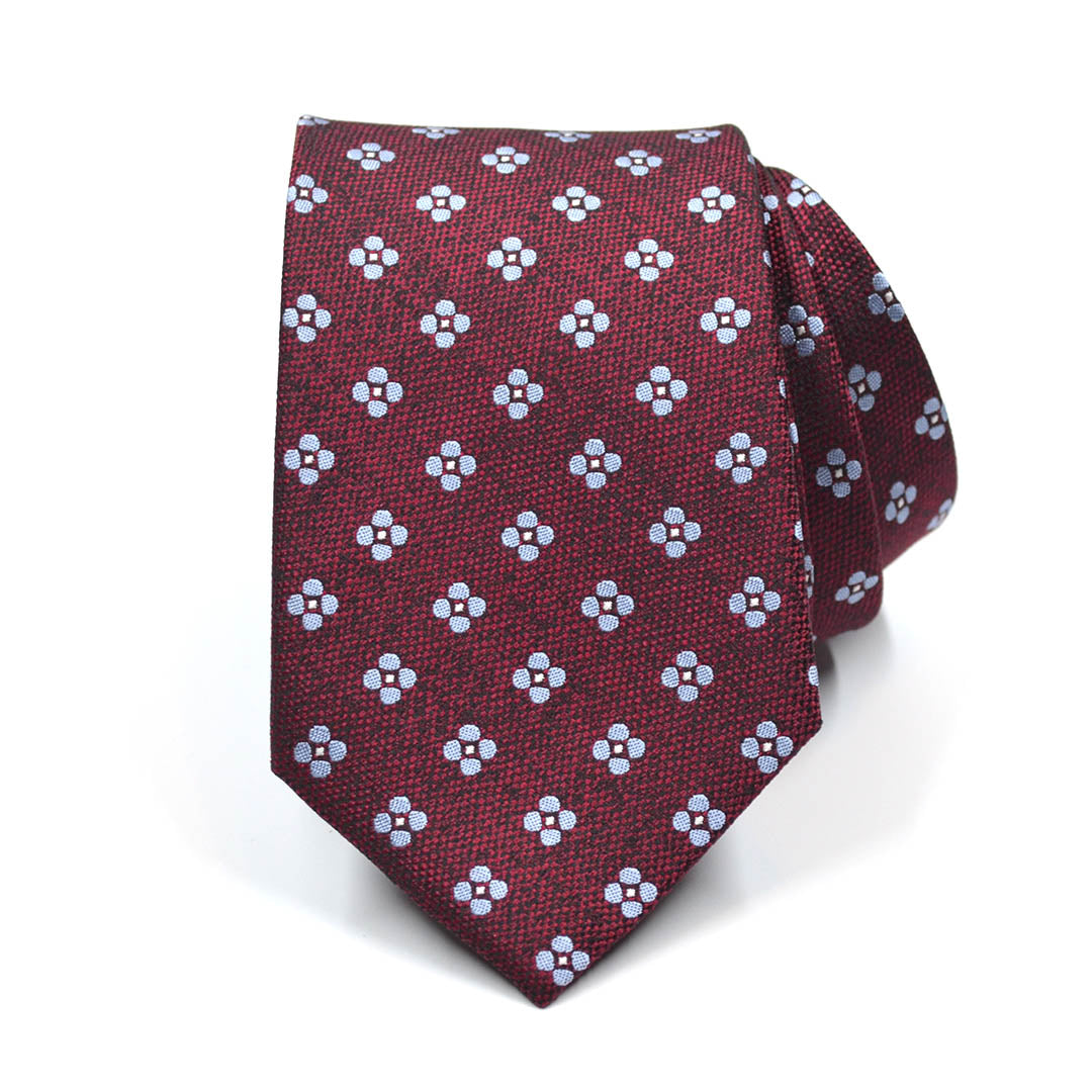 Polka Dot Burnt Red Tie