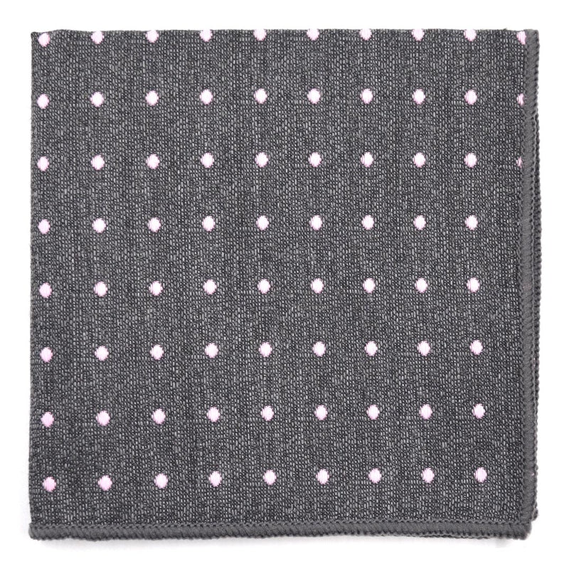 Polka Dot Dark Grey Pocket Square