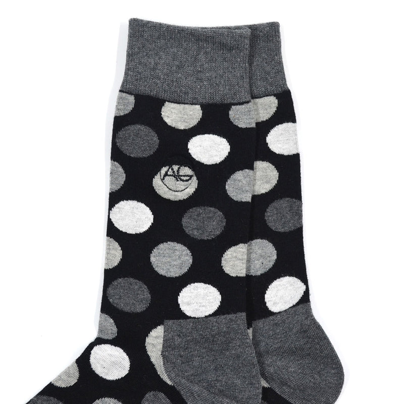 Polka Dot Grey Men's Socks