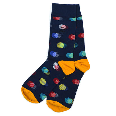 Polka Dot Shaded Men's Socks