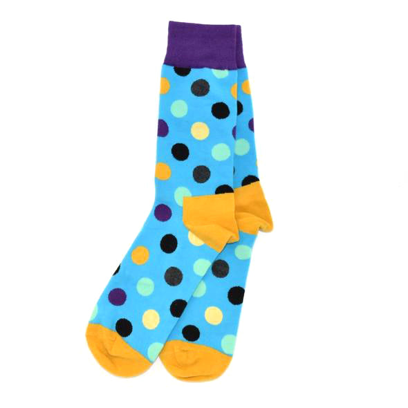 Polka Dot Teal Men's Socks